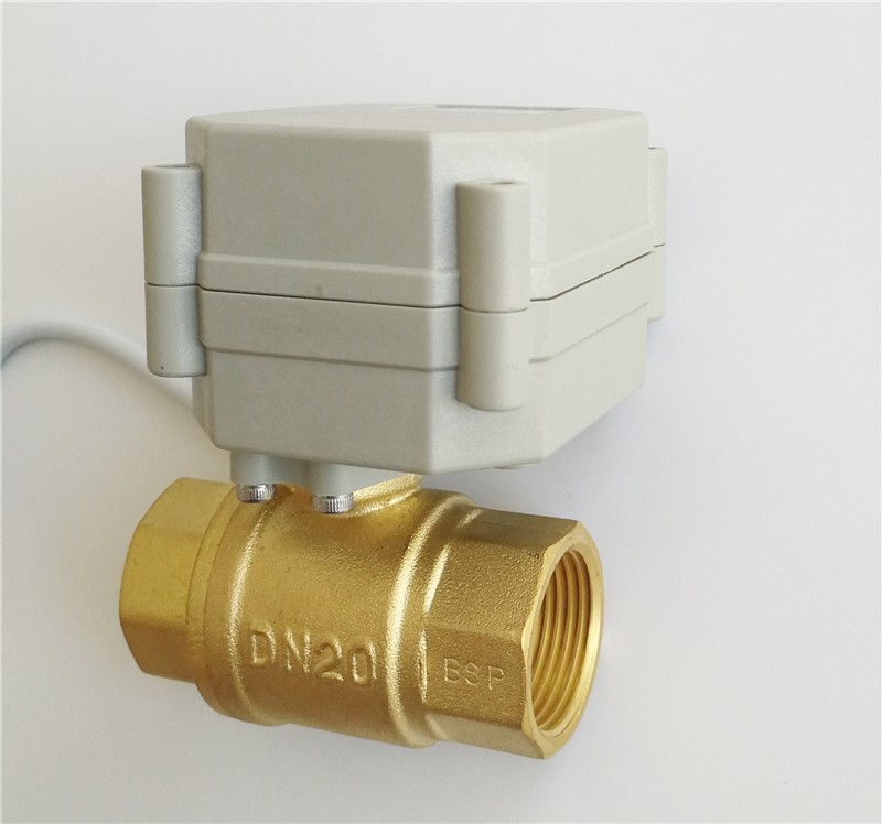 Brass Electric Motorized Ball Valves for Air Conditioner 2 Way Brass AC 230V