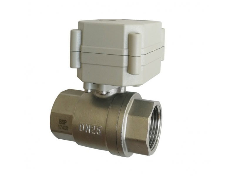 1'' SS304 2 way electric ball valve with indicator TF25-S2-C